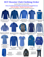 HCV BOOSTER CLUB CLOTHING ORDER