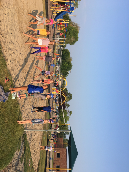New sand volleyball court.