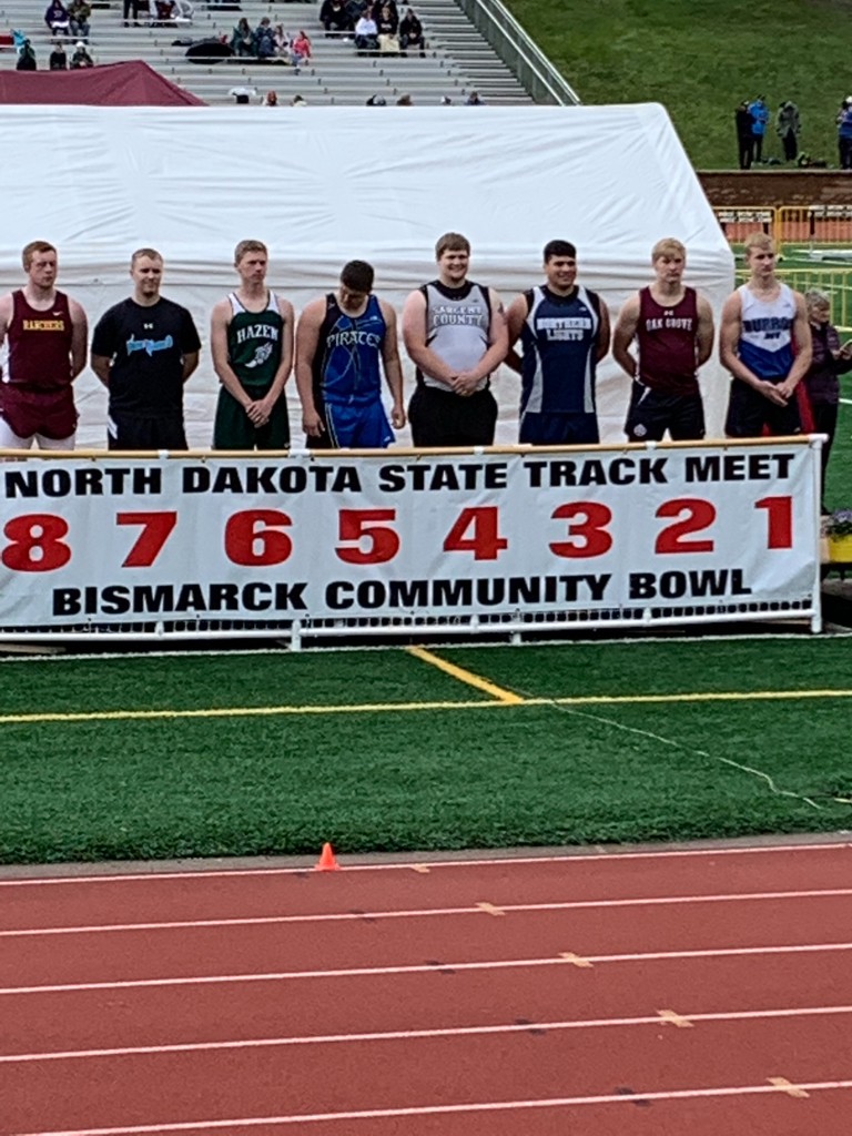 Kaden with a first place toss of 180ft 4in with the discus at state track.