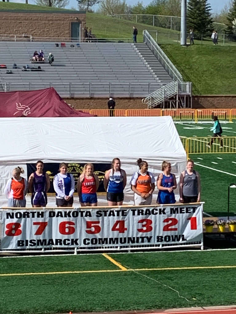 Abby with a 4th place finish in the Discus at State Track!