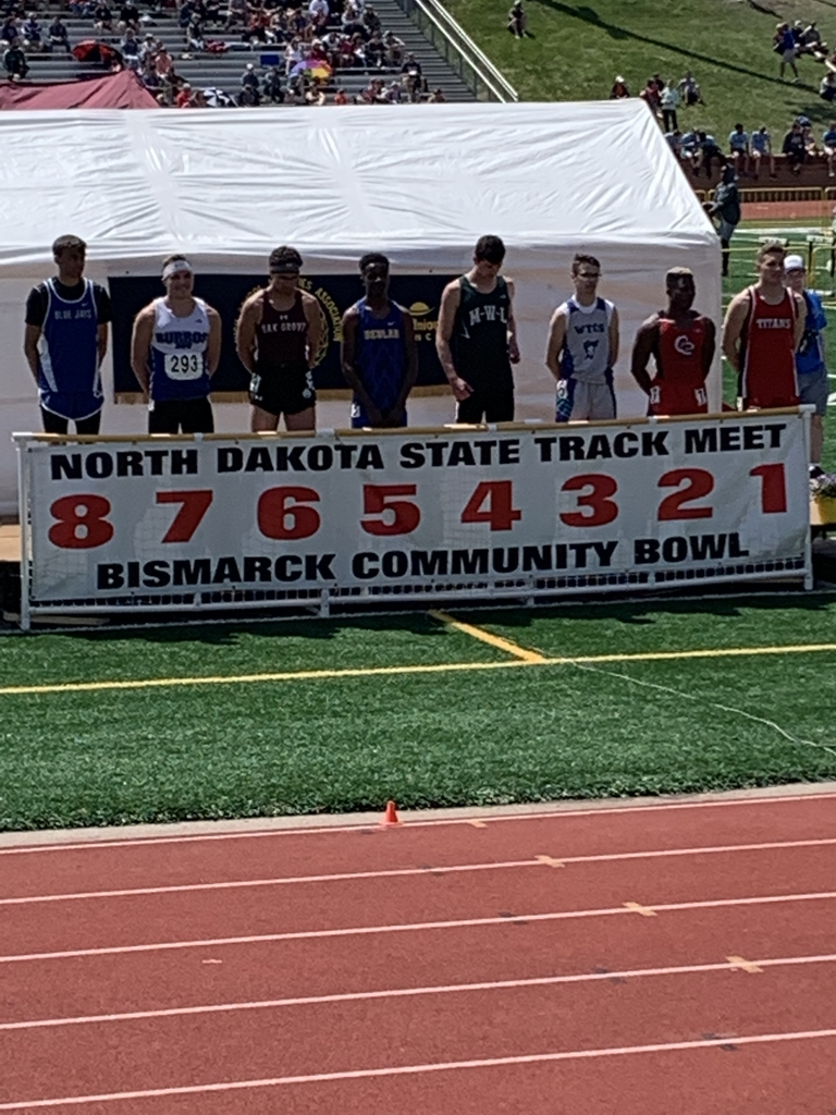 Isaac at the podium for the 100 meter dash
