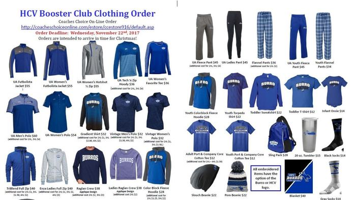 HCV Boosters Winter Order form