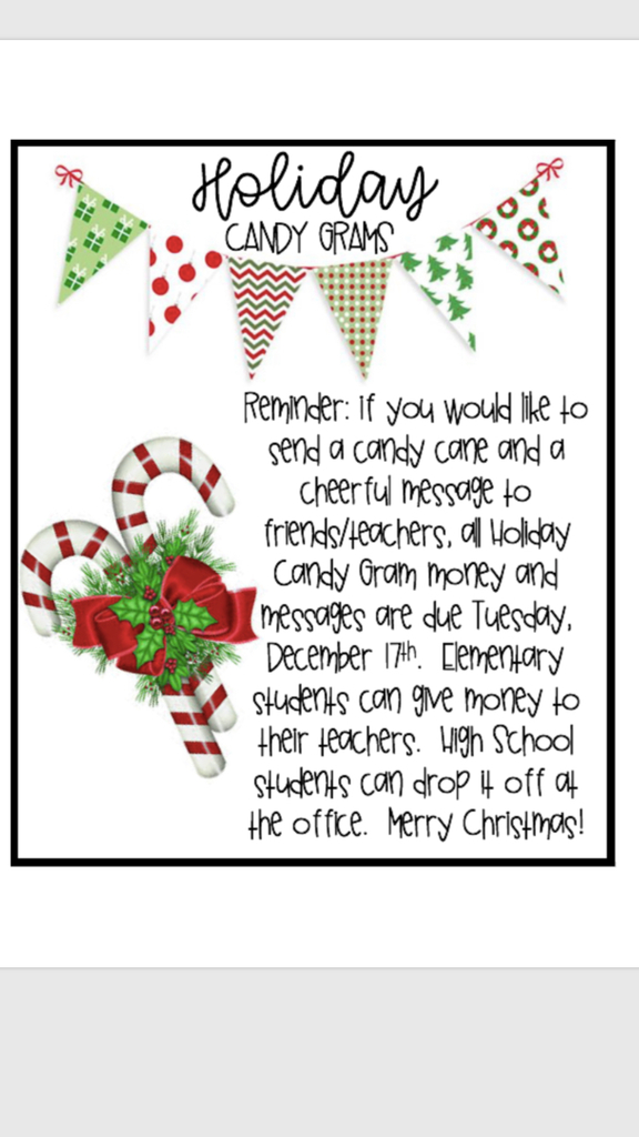 Candy Gram Announcement